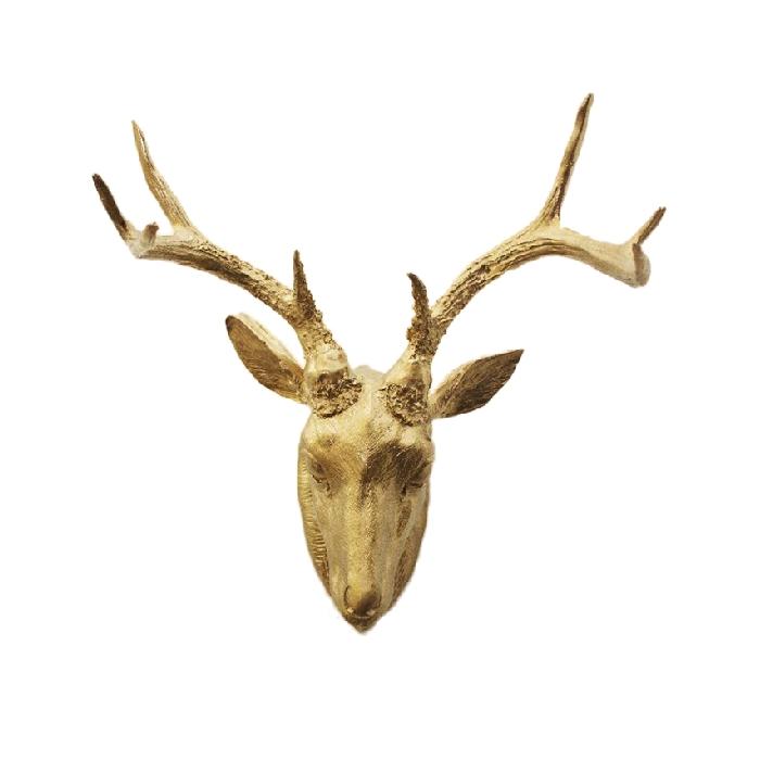 Cabeza de venado dorada de TRENDYTA